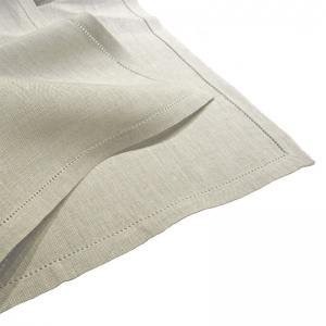 Pure Linen Napkins, Natural, with Punchspoke Border