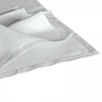 Pure Linen Napkins, White, with Punchspoke Border